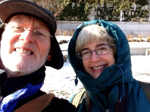 Clive and Kathy explore the cold city