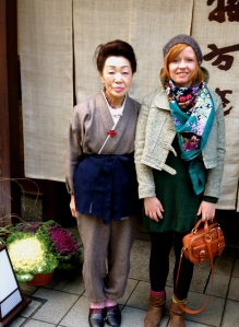 Hanna and the owner of our lovely Ryokan in Kyoto