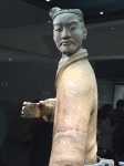 Terracotta Warrior still with some of the colours on his life like form